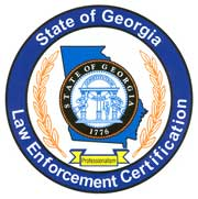 State of Georgia Law Enforcement Certification seal